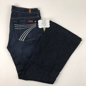 7 for all mankind dojo flare jeans 28x28.5